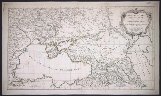 Карта Юга России и Кавказа,