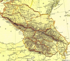 Карта Кавказа, 1882 г.