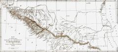 Карта Черкессии 1840 г.