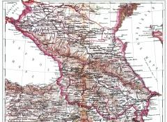 Карта Кавказа, 1897 г.