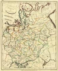 Карта Европейской России, 1804 г.