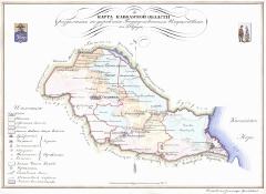 Карта Кавказской области, 1843 г.