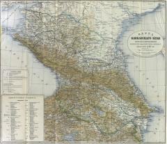 Карта Кавказского края, 1903 г.