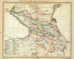 Карта Кавказа, 1848 г.