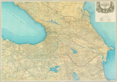 Карта Кавказа Кавказского военного округа 1903 г.