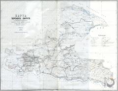 Карта Терского округа 1928 г.