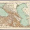 Карта Кавказа и Каспийского моря 1929 г.