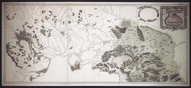 Карта границ России с Турцией от Дуная до Кавказа, 177? г.