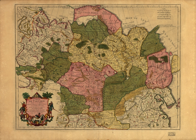 Карта Тартарии 1706 г.