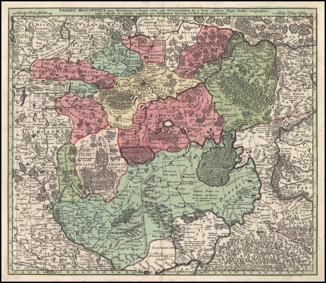 Карта Юга России 16-17 вв.