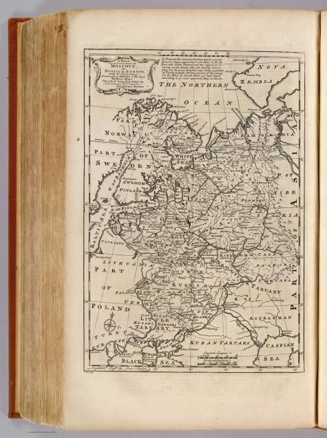 Новая карта Московии 1747 г.