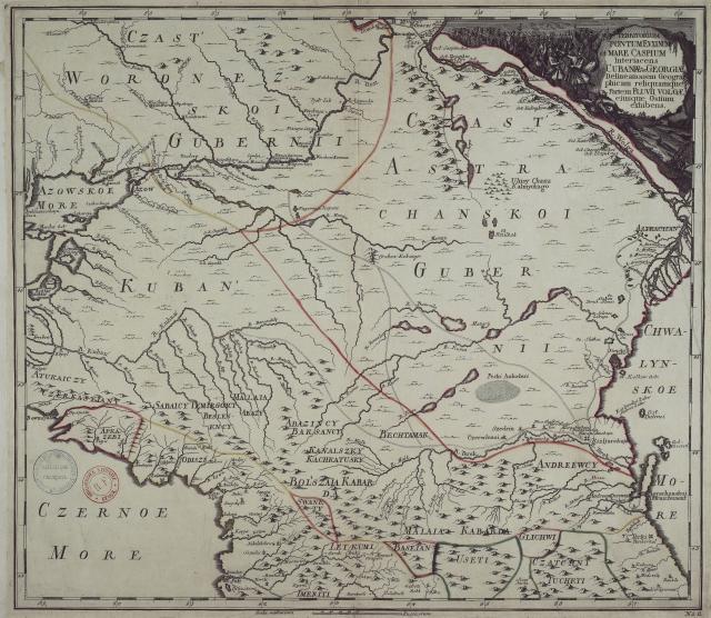 Карта Кавказа, 1745 г.
