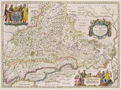 Карта Московии, 1664 г.