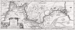 Карта Кавказа, составленная по маршруту путешествия Адама Олеария 1659 г.