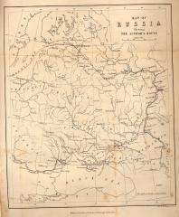 Карта путешествия Scheving (к. XVIII-н.XIX вв.)