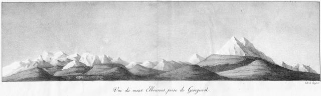 Вид Эльбруса из Георгиевска