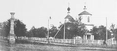 Николаевский собор и колонна у гауптвахты в Георгиевске