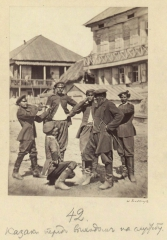Казаки перед выходом на службу (Болдырев И.В. 1875)