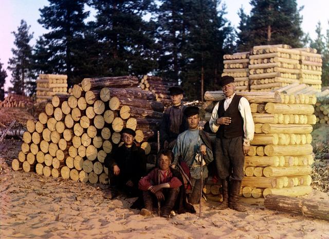 Пильщики на Свири, 1909