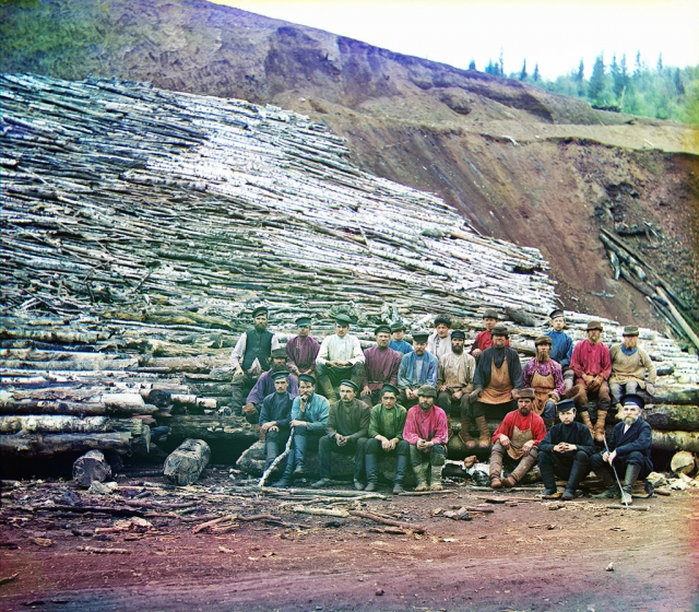 Накатка дров для обжига руды, 1910