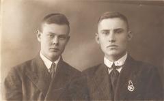 П.М.Однобоков - ученик летчика Енакиевского аэроклуба, 1938 год.