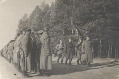 Вынос полкового знамени, осень 1944 года.