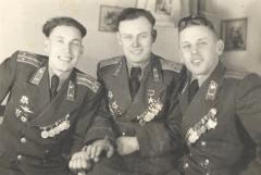 Со своими заместителями Василием и Петром, Германия, 1949 год