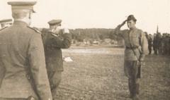 Торжественное построение, доклад комэска, 1944 год