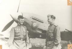Однобоков и Мироненко 9 мая 1945 года, Литва, аэродром Вегеряй-2