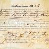 Георгиевск, свидетельство от 15 февраля 1919 г.