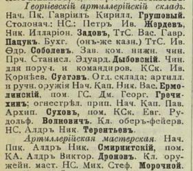 Прикрепленное изображение: Кавказский календарь на 1910 год, Тифлис, 1909, стр.699.JPG
