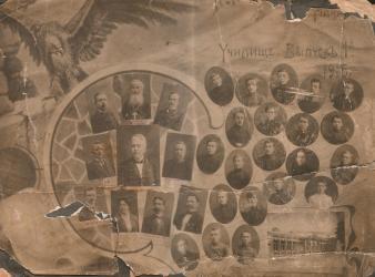 Прикрепленное изображение: Старинная фотография Выпуск Георгиевского училища.jpg