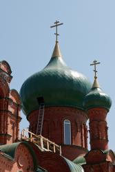 Прикрепленное изображение: Центральная глава новой Михаило-Архангельской церкви в станице Незлобная.jpg