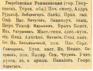 Прикрепленное изображение: Кавказский календарь на 1916, стр.353-354(ГеорРоманНизшРемесШкола).JPG