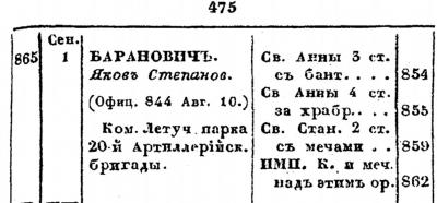 Прикрепленное изображение: Список подполковникам по старшинству. Исправлено по 1-е Февраля, САНКТПЕТЕРБУРГ, В военной типографии,  1866, стр.475.JPG